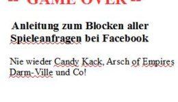 Anleitung Spieleanfragen bei Facebook blockieren